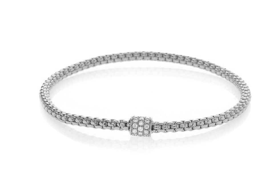 Hulchi Belluni Three Rolo Diamond Stretch Bracelet