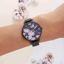 Load image into Gallery viewer, Olivia Burton OB16AD35 Signature Florals Ip Black 38mm Women's Watch