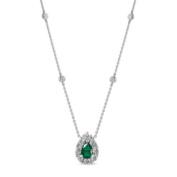 Gregg Ruth 18K Emerald Necklace