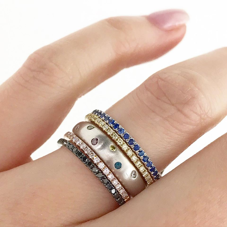 Roset Blue Sapphire Stackable Ring
