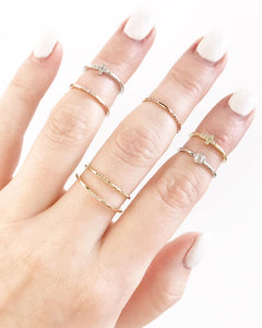 Roset Texture Gold Knuckle Ring