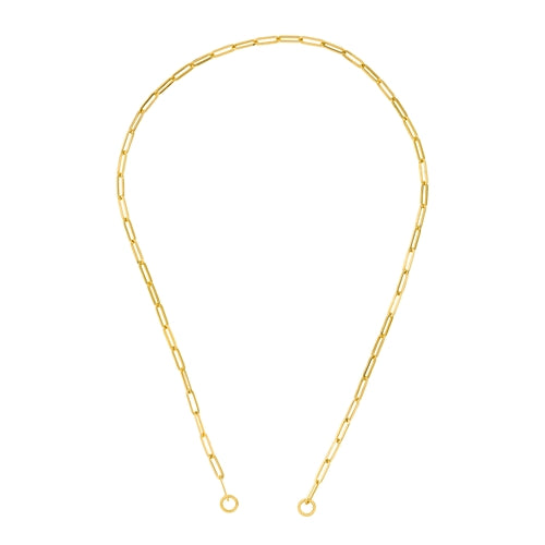 Roset Gold Label Hollow Open 3.9mm Paper Clip Chain