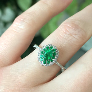 Gregg Ruth 18K Emerald Ring