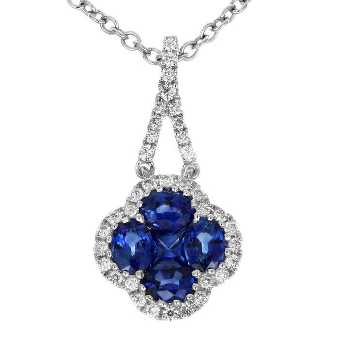 Gregg Ruth 18K Blue Sapphire Necklace