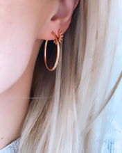 Load image into Gallery viewer, Roset Gold Label Rose Gold Polished Hoops
