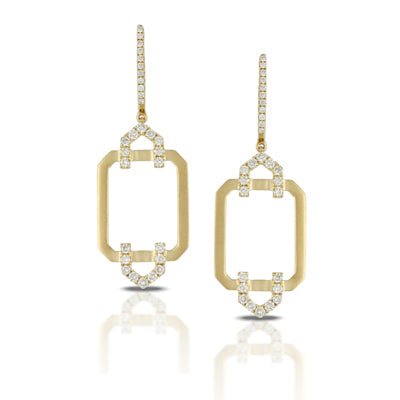 Doves Gold Diamond Earring