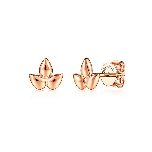 Gabriel 14K Gold Triple Pear Shape Stud Earrings