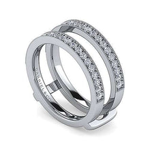Load image into Gallery viewer, Gabriel Ring Enhancer 14K White Gold Diamond 0.48 ct