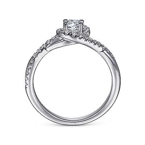 "Gabriel ""Shawn"" 14K Round Halo Engagement Ring"