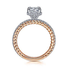 "Load image into Gallery viewer, Gabriel ""Vetta"" 14K Round Diamond Engagement ring"