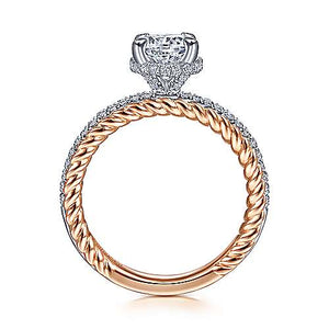 "Gabriel ""Vetta"" 14K Round Diamond Engagement ring"