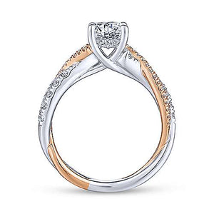 "Gabriel ""Sandrine"" 14K Round Diamond Engagement Ring"