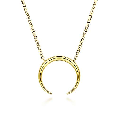 Gabriel 14K Yellow Gold Crescent Moon Pendant Necklace