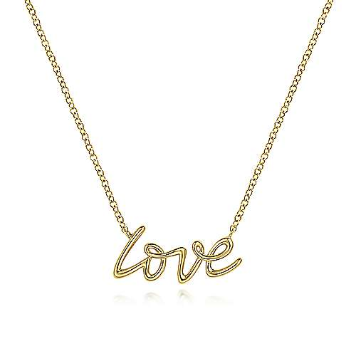 Gabriel 14K Yellow Gold Love Necklace