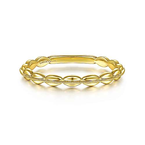 Gabriel 14K Yellow Gold Oval Station Ring