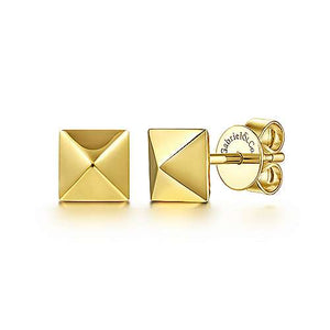 Gabriel 14K Gold Pyramid Stud Earrings