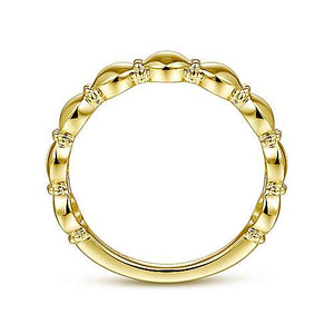 Gabriel 14K Yellow Gold Round Station Stackable Ring