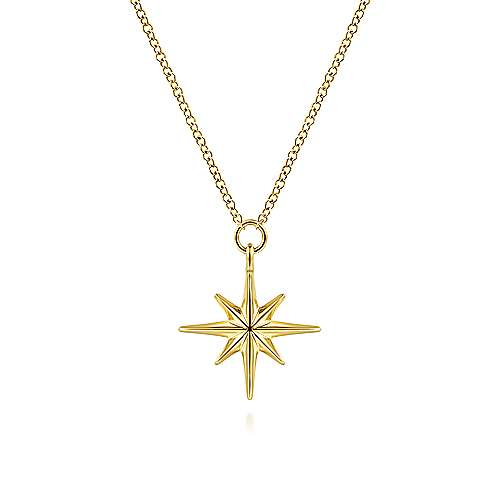 Gabriel 14K Yellow Gold Star Pendant Necklace
