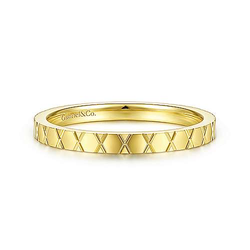 Gabriel & Co. 14K Yellow Gold X Pattern Stackable Ring