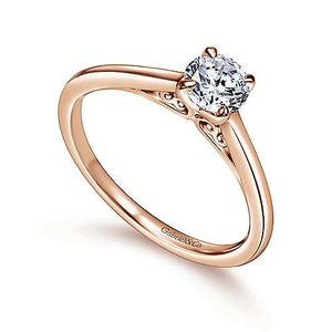 "Gabriel ""Valerie"" 14K Round Diamond Engagement Ring"