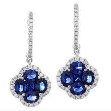 Load image into Gallery viewer, Gregg Ruth 18K Dangle Blue Sapphire Earrings