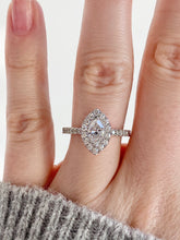 Load image into Gallery viewer, 14K Gold Marquise Diamond & Halo Engagement Ring