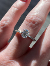 Load image into Gallery viewer, Roset Oval Moissanite Engagement Ring
