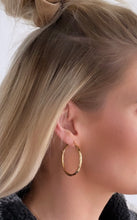 "Load image into Gallery viewer, Roset Gold Label ""Rowan"" Polished Hoops"
