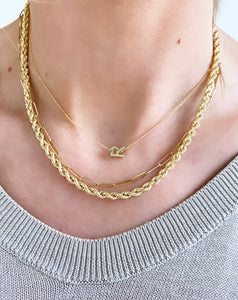 "Roset Gold Label ""Demi"" Custom Initial Necklace"