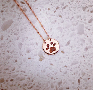 Custom Paw-print Necklace