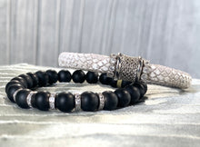 Load image into Gallery viewer, Luca Black Onyx Beaded Bracelet