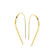 "Roset Gold Label ""Flat Betty"" Wire Hoop"