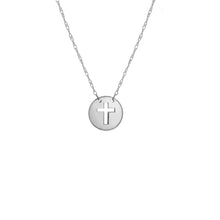 "Load image into Gallery viewer, Roset Gold Label ""Faith"" Mini Disk Cut Out Necklace"
