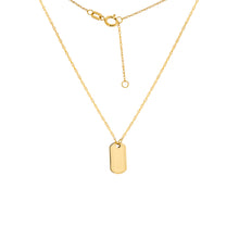 "Load image into Gallery viewer, Roset Gold Label Micro ""Dog Tag"" Necklace"
