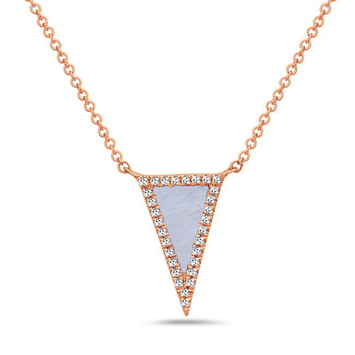 Bassali 14K Rose Gold Pyramid Necklace