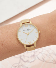 Load image into Gallery viewer, Olivia Burton White Dial Gold Mesh Watch