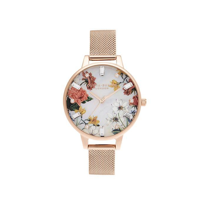 Olivia Burton OB16BF28 Sparkle Florals Rose Gold Women's Watch
