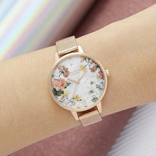 Load image into Gallery viewer, Olivia Burton OB16BF28 Sparkle Florals Rose Gold Women's Watch