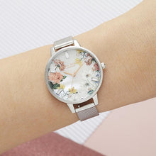 Load image into Gallery viewer, Olivia Burton OB16BF32 Sparkle Florals Silver Women's Watch