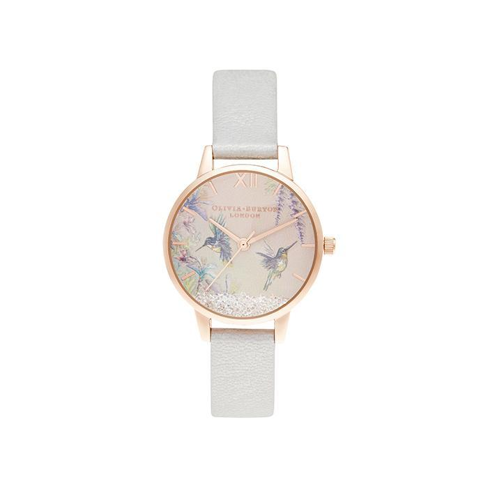 Olivia Burton OB16PP61 Painterly Prints Rose Gold & Floral Women's Watch