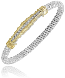 Vahan Diamond & Yellow Gold Bangle