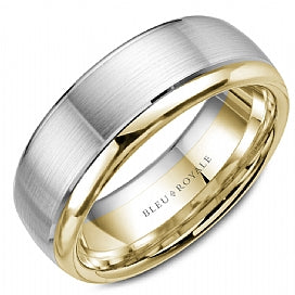 Bleu Royale Wedding Band RYL-006WY75