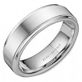 Bleu Royale Wedding Band RYL-036W65