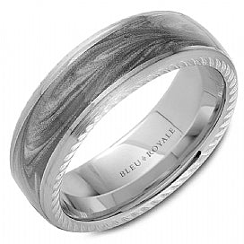 Bleu Royale Wedding Band RYL-133AGW