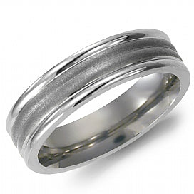 Torque Wedding Band TI-0019