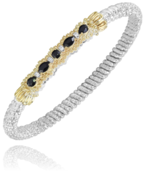 Vahan Black Onyx Bangle
