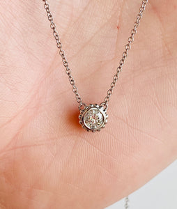 Natalie K. Round Diamond Adjustable Necklace