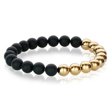 Load image into Gallery viewer, Italgem BB-94  NERO ORO BEAD BRACELET
