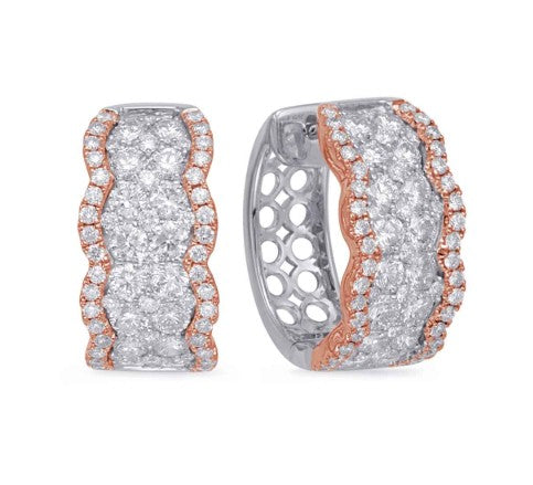 Roset Rose & White Gold Diamond Earring