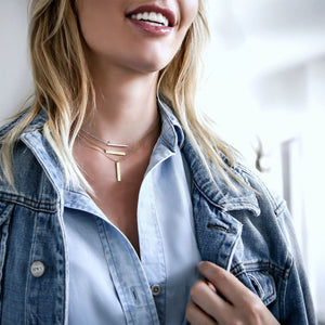 Birks Vertical Bar Necklace
